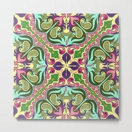 Ethnic Curlsley patterns-3 Metal Print