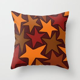 Autumn Stars Throw Pillow