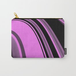 Pink and Black Slick Carry-All Pouch