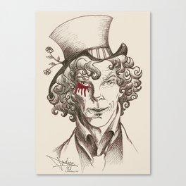 Mad Hatter (burgundy) Canvas Print