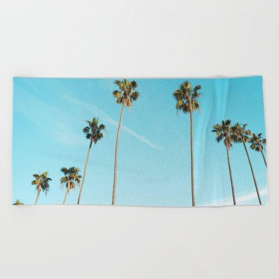 Palm Tree Sunshine Beach Towel