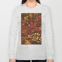 Orange Symbols Long Sleeve T-shirt