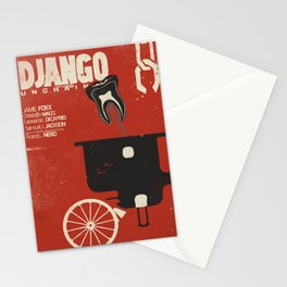 Django Unchained, Quentin Tarantino, alternative movie poster, Leonardo DiCaprio, Jamie Foxx Stationery Cards