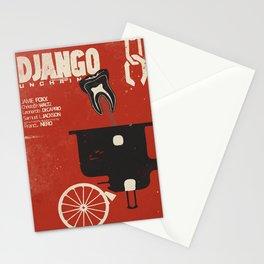 Django Unchained, Quentin Tarantino, alternative movie poster, Leonardo DiCaprio, Jamie Foxx Stationery Cards