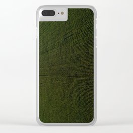 Rural Corn Fields Clear iPhone Case