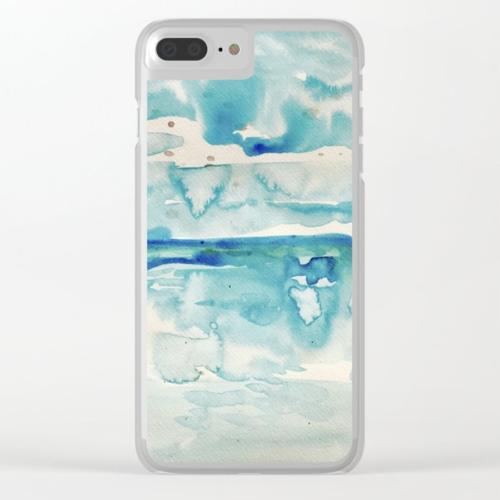 Miami Beach Watercolor #6 Clear iPhone Case