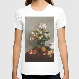 Henri Fantin Latour - Flowers And Fruit T-shirt
