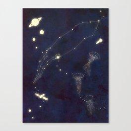 Sea Lights Canvas Print