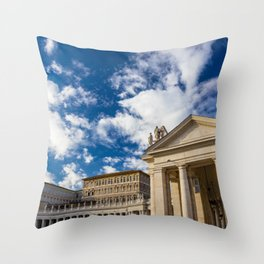 Piazza San Pietro, in the Vatican City; Rome Italy Throw Pillow