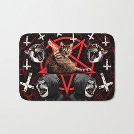 satanic cat pentagram death black metal band exorcist Bath Mat