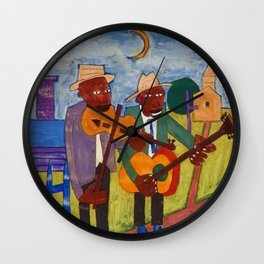 African American Masterpiece 'Sweet Adeline' by William Johnson Wall Clock