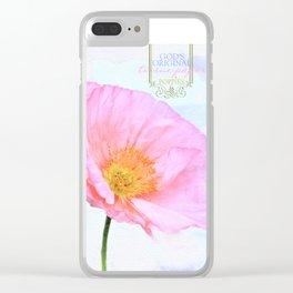 Pretty Poppy Clear iPhone Case