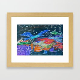 Free To Be Enough Framed Art Print