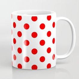 Polka Dots (Classic Red & White Pattern) Coffee Mug