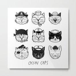 Ocean Cats Metal Print