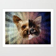 CatDog 2 Art Print