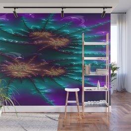 Brocaded Geyser Fractal Design 5 Wall Mural