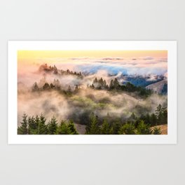 Coastal Fog Over Mount Tamalpais Art Print