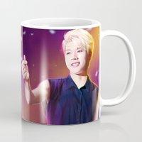kpop Mugs featuring Woohyun by Nikittysan