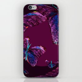 Purple butterflies full of beauty #decor #society6 iPhone Skin