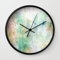 maps Wall Clocks featuring Maps by Casey Carsel