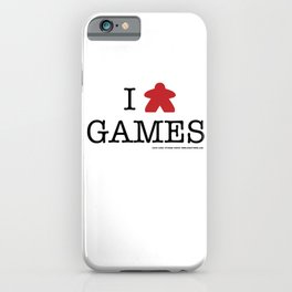 I Meeple Games iPhone Case