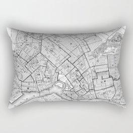 Vintage Map of Brookyln (1868) BW Rectangular Pillow