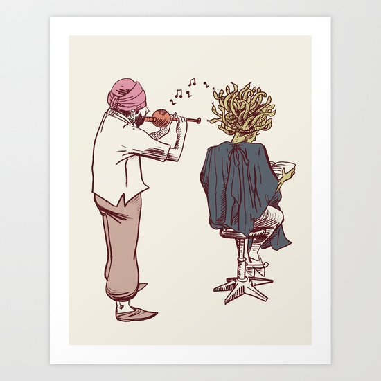 New Hairstyle Art Print