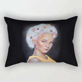 Metallic Lady Rectangular Pillow