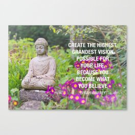 Oprah Winfrey on Believing in Yourself Canvas Print