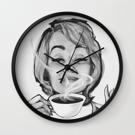 Savour each sip Wall Clock