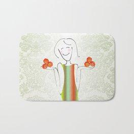She brings tulips. Bath Mat