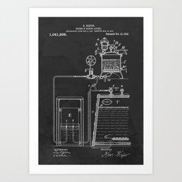 Process Of Making Alcohol Patent 1912 Art Print