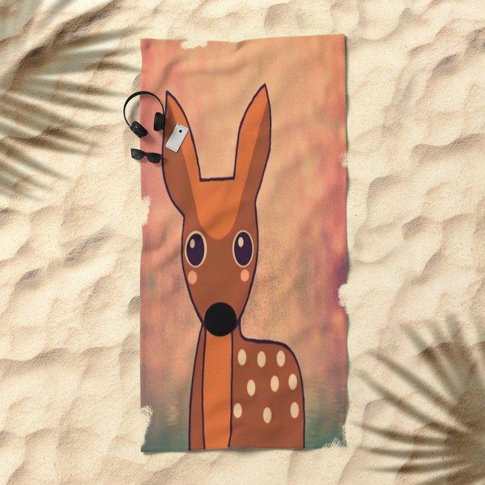 Little Deer-96 Beach Towel