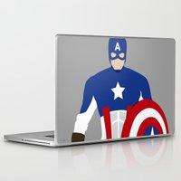 captain silva Laptop & iPad Skins featuring Captain by Mi Absurda Osadía
