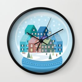 Snowglobe Wall Clock