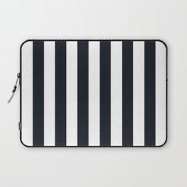 Vertical Stripes Black & White Laptop Sleeve