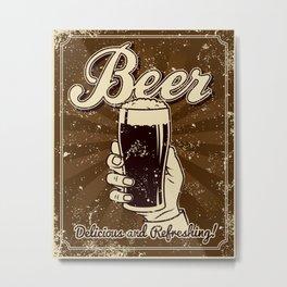 Beer Metal Print