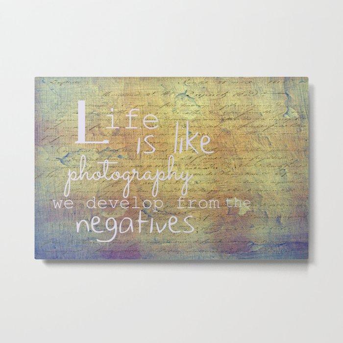 Life is... Metal Print