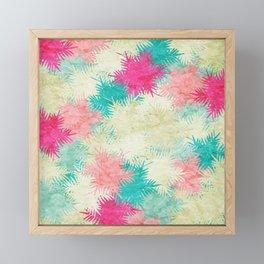 Tropical Fan Palm Paradise – Colorful Framed Mini Art Print