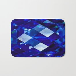 Blue Sapphire September Birthstone Gem Bath Mat