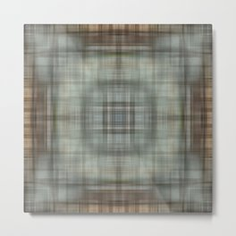 Modern Abstract Plaid Metal Print