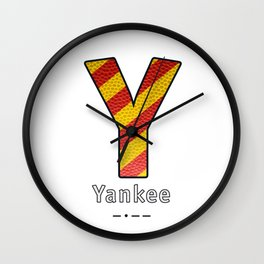 Yankee - Navy Code Wall Clock