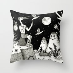 His Destiny Was Written in the Night Sky Throw Pillow