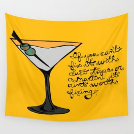 Duct Tape or A Martini Wall Tapestry