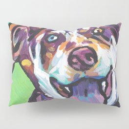 Fun Catahoula Leopard Dog bright colorful Pop Art painting by Lea Pillow Sham