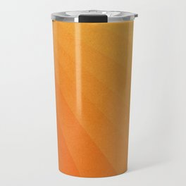 Shades of Sun - Line Gradient Pattern between Light Orange and Pale Orange Travel Mug