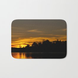 Autumn Sunset Bath Mat