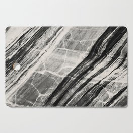 Abstract Marble - Black & Cream Cutting Board
