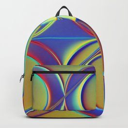 Holographic Abstract Geometric Pattern - Helios Backpack